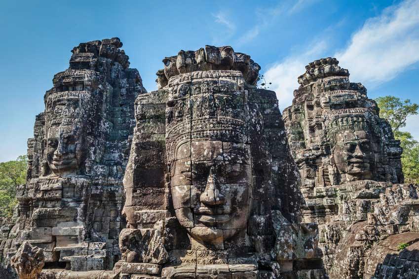 Les Mystèrieuses Têtes d'Angkor au Cambodge Bayon_Angkor